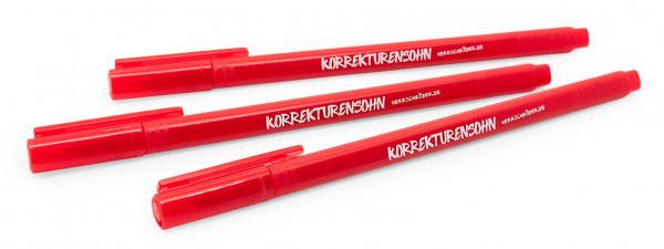 "Fineliner-Rotstifte ""Korrekturensohn"" in der Cholerikums-Edition (Dreier-Pack)"